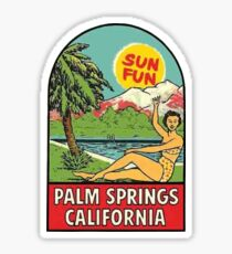 Palm Springs California Retro Vintage Travel Decal Sticker