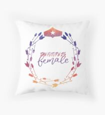 The Future is Female!  Throw Pillow