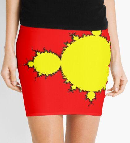 Yellow & Black Mandelbrot Mini Skirt