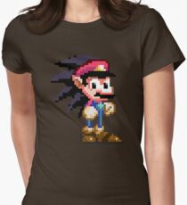 Mario the HedgeHog  Womens Fitted T-Shirt