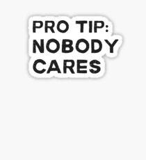 Pro Tip Nobody Cares Sarcastic Humor Sticker
