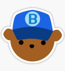 ABC Bear Letter B Sticker