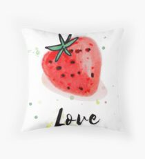 Fresh Natural Fruit Strawberry T-shirt  Throw Pillow