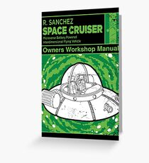 Space Cruiser Workshop Manual Greeting Card
