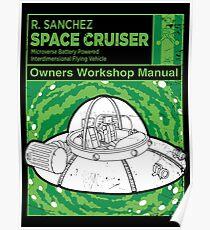 Space Cruiser Workshop Manual Poster