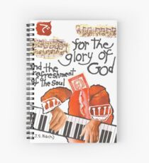 Stamp People Series (Johann Sebastian Bach) Spiral Notebook