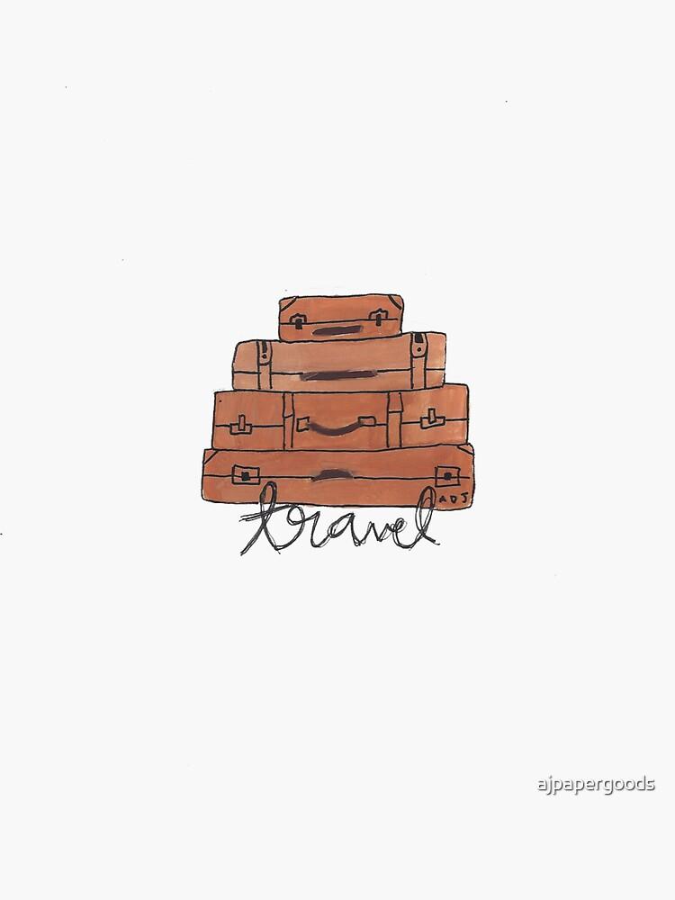 Doodle de viaje / maleta de ajpapergoods
