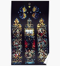 Stained glass Reformation window Cathedral Lausanne Switzerland 19840817 0020 Poster