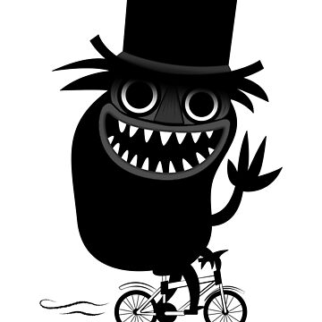 Babadook Likes Bicycle by Plan8