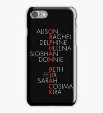 Orphan Black Typography - Dark iPhone Case/Skin
