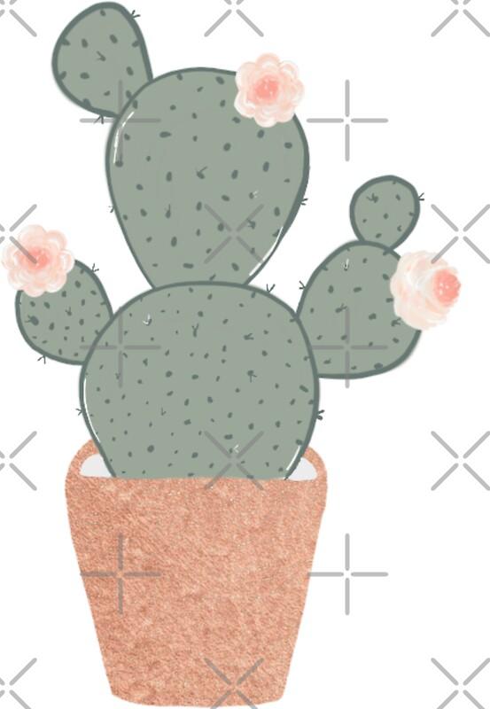 Rose gold cactus