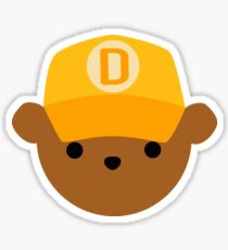 ABC Bear Letter D Sticker
