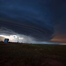 Train into the storm by Alan Gamble