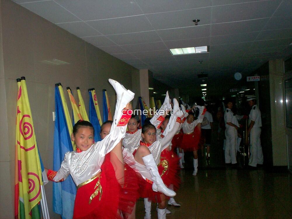 girls getting ready to perform by cometkatt