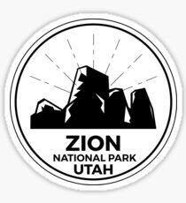 Zion National Park Utah Camping Gift Sticker