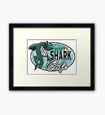 Happy Shark Cafe Framed Print