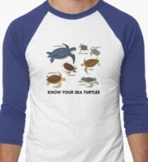 Camiseta ¾ estilo béisbol Conozca a sus tortugas marinas