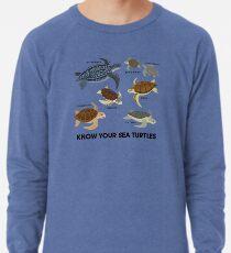 Kenne deine Meeresschildkröten Leichter Pullover