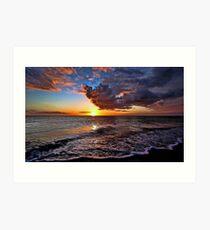 Venetian Sunset - Brouhard Beach, FL Art Print