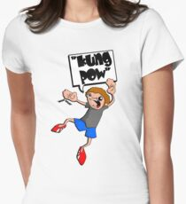 kung pow Women's Fitted T-Shirt