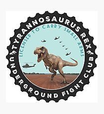 T Rex Fight Club Photographic Print