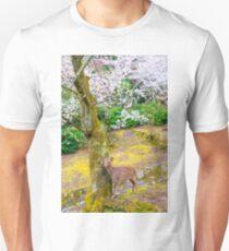 Japan Cherry Blossom Deer Unisex T-Shirt