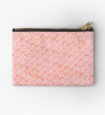 Teardrop Petals - Peach Zipper Pouch