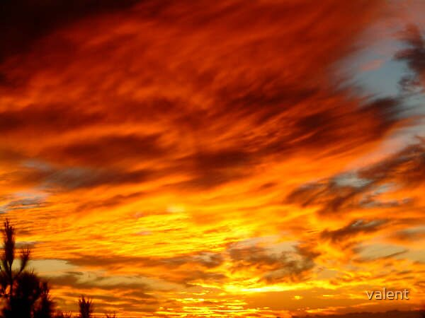 burning sky by valent
