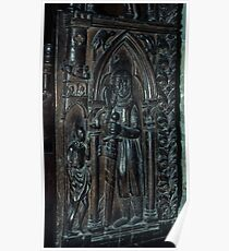 Pew Carving Cathedral Lausanne Switzerland 19840817 0021  Poster