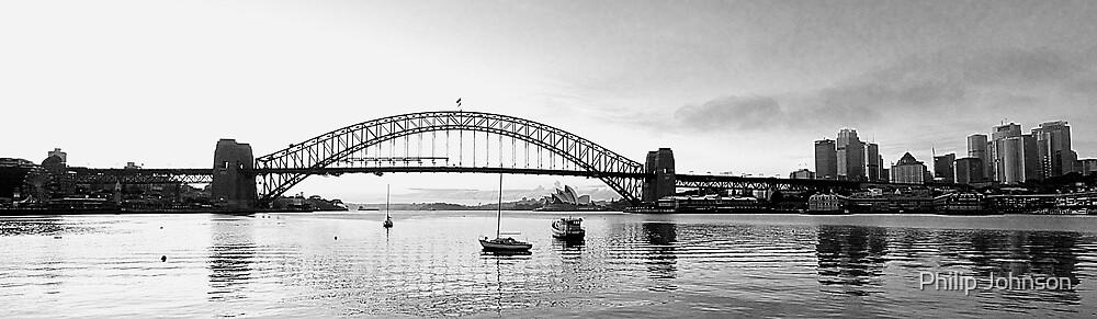 Moods Of A City - Sydney Harbour the Black & White Series, Sydney Australia by Philip Johnson