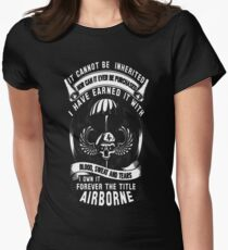 airborne 101st airborne 82nd airborne paratroope T-Shirt  Womens Fitted T-Shirt