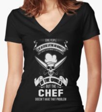 Chef swedish chef drunk chef chef funny dope che T-Shirt  Women's Fitted V-Neck T-Shirt