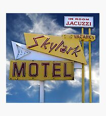 Skylark Motel Vintage Sign Photographic Print