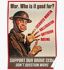 War. Who is it good for? Poster