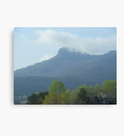 Pilot Mnt. in the Fog Canvas Print