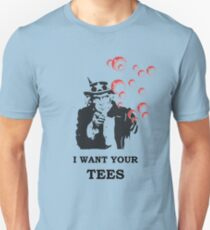 I WANT YOUR TEES RED BUBBLE Unisex T-Shirt