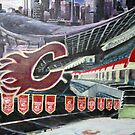Calgary Flames- The Saddledome by Christopher Ripley