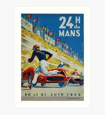 24hs Le Mans, 1959 Kunstdruck