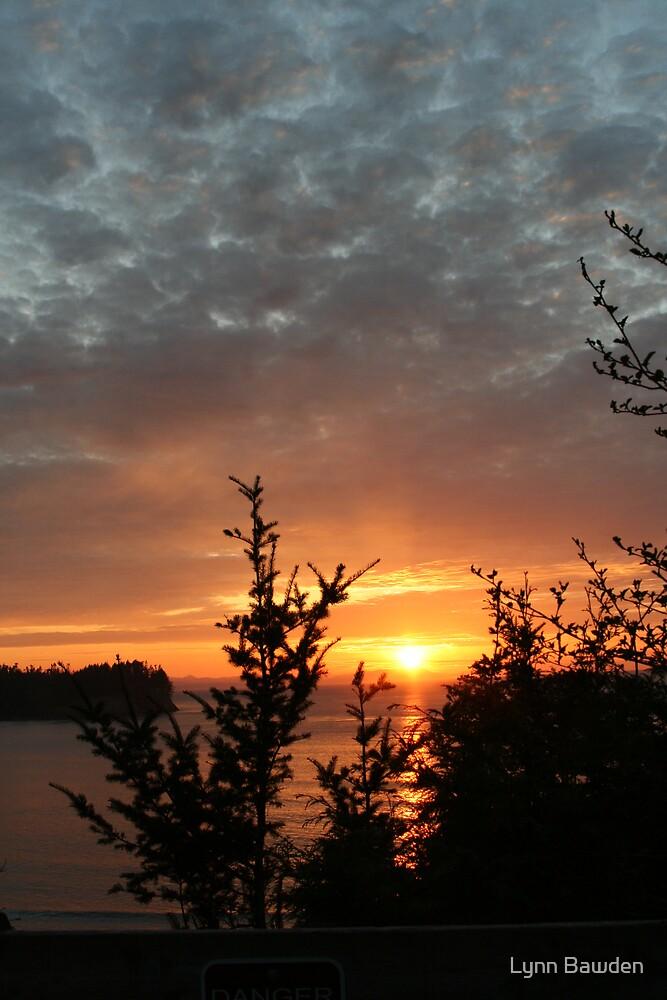 """Sunset on the Strait of Juan DeFuca"" by Lynn Bawden"