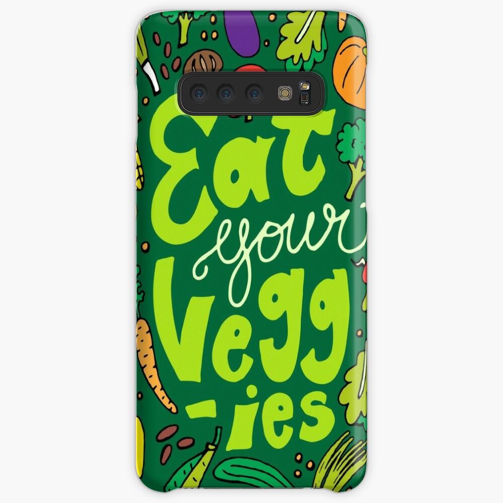 Iss dein Gemüse Hülle & Klebefolie für Samsung Galaxy