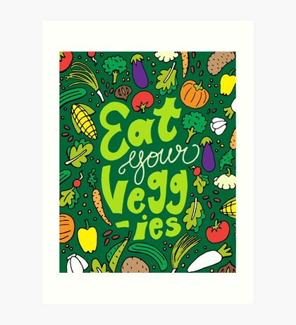 Eat Your Veggies Art Print