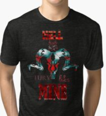 Hell Hath No Fury Like Mine - Portrait Tri-blend T-Shirt