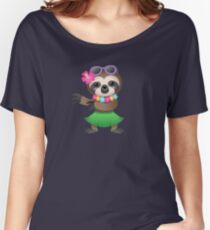 Hula Sloth  Women's Relaxed Fit T-Shirt