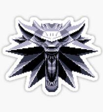 Wolf School Medallion Pixel Art Sticker
