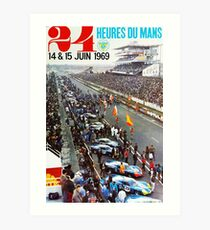 24hs Le Mans, 1969 Kunstdruck
