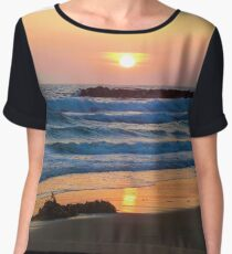 Newport Beach Sunset - 3 Women's Chiffon Top