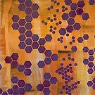 Purple Hexagons by Veronica Krawcewicz