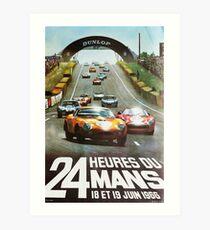 24hs Le Mans, 1966 Art Print