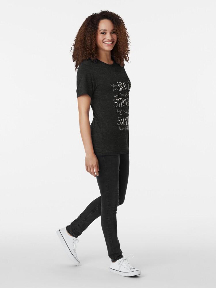 Vista alternativa de Camiseta de tejido mixto Eres Braver