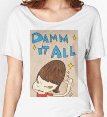 Yoshitomo Nara - Damn It All Women's Relaxed Fit T-Shirt